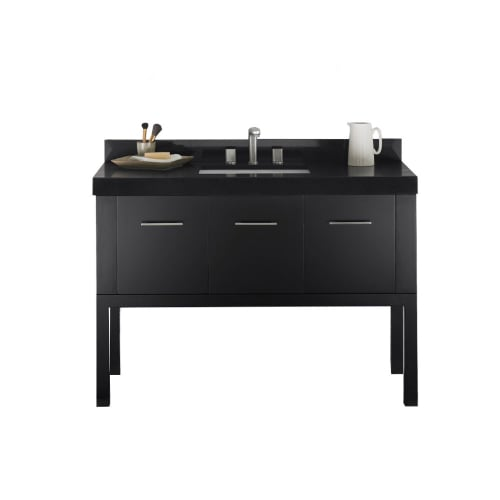 "Ronbow 036848-B02_Kit_8 Calabria 48"" Single Vanity Set with Hardwood Cabinet, Qu"