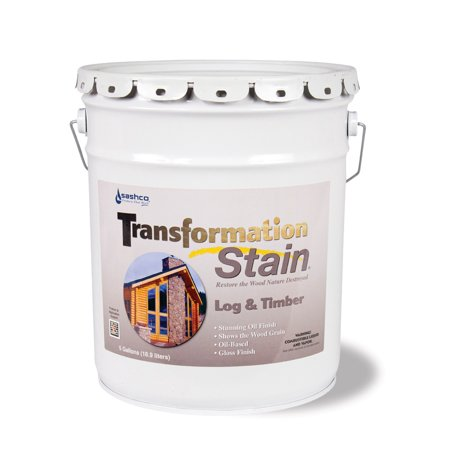 Gloss 5 Gallon Pail - Transformation Log & Timber 5 Gallon Pail Brown Tone Medium
