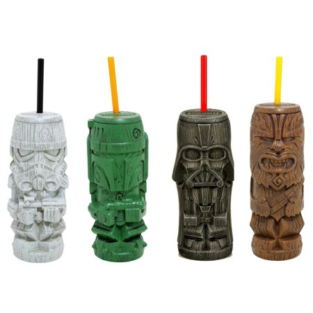 Star Wars Plastic Geeki Tiki Tumblers | Set of -