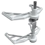 Half Moon Lazy Susans Hardware Components-Two Shelf Hardware Kit, 2-Shelf Hardware Kit without Slides, Metal finish