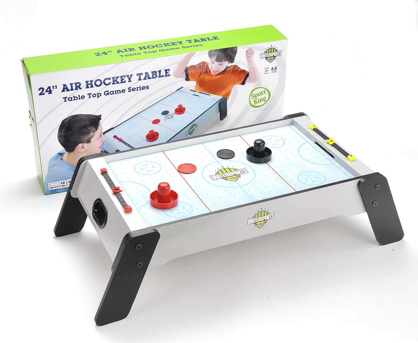 """24"""" Wooden Air Hockey Table Game by United Sports"""