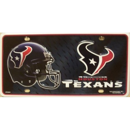Houston Texans NFL Embossed Metal Novelty License Plate Tag - Nfl Novelties