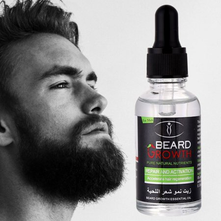Beard Grow Liquid | Facial Hair Supplement Mens | Hair Growth Vitamins | For Thicker and Fuller Beard,100% Natural Premium Ingredients Promotes Healthy Beard (Best Beard Growth Supplements)