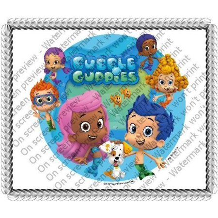 Bubble Guppies Molly (6 Round ~ Bubble Guppies Molly Birthday ~ Edible Icing Image Cake/Cupcake)