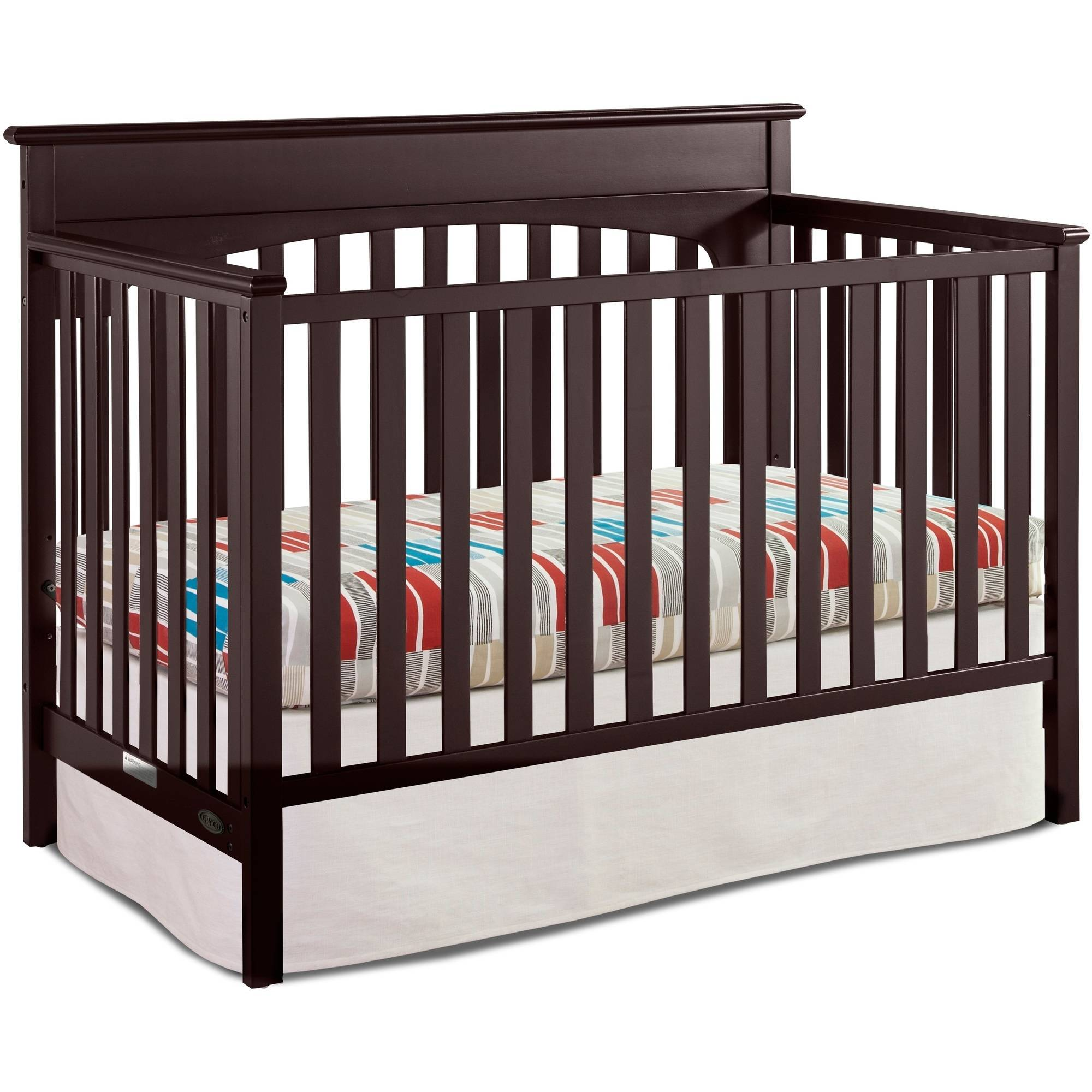 Graco Lauren 4-in-1 Convertible Fixed-Side Classic Crib, Choose Your Finish