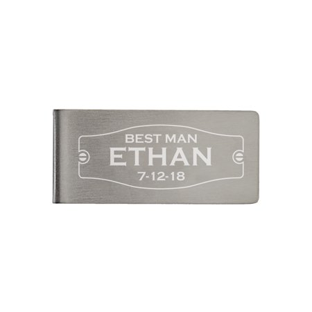 Personalized Wedding Party Money Clip, Best Man