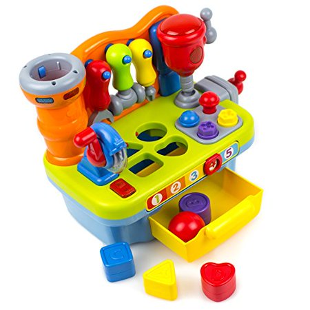 Toysery Musical Learning Workbench Toy with Tools, Engineering Sound Effects and Lights, Workbench Toy set for Kids, Boys and Girls](Girls Engineering Toys)