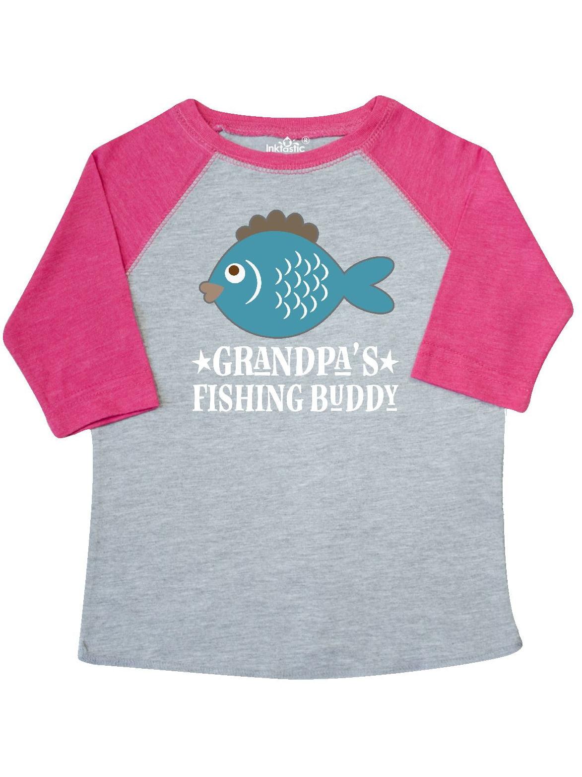 Grandpa's Fishing Buddy Little Fisher Toddler T-Shirt