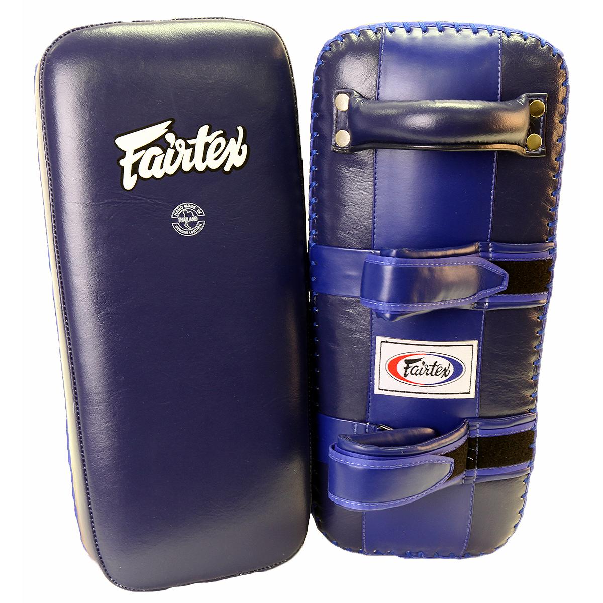 Fairtex Extra Long Thai Kick Pads - Blue