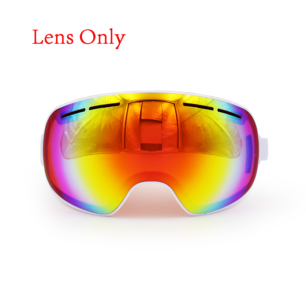 Ediors Windproof Snowmobile Snowboard Skate Ski Goggles with Detachable Lens Dual Anti-fog,Anti-UV Lens by Ediors