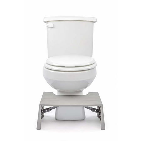 Foldable Squatting Toilet Stool In Gray
