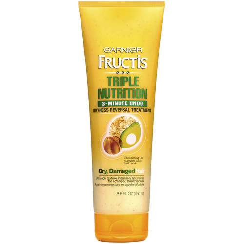 Garnier Fructis Triple Nutrition, 3-Minute Undo Dryness Reversal Treatment for Dry, Damaged Hair, 8.5 fl oz