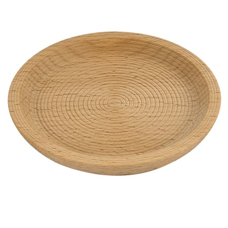 Restaurant Wood Grain Pattern Round Shape Tea Cup Mat Tray Container 12cm Dia Round Wood Box