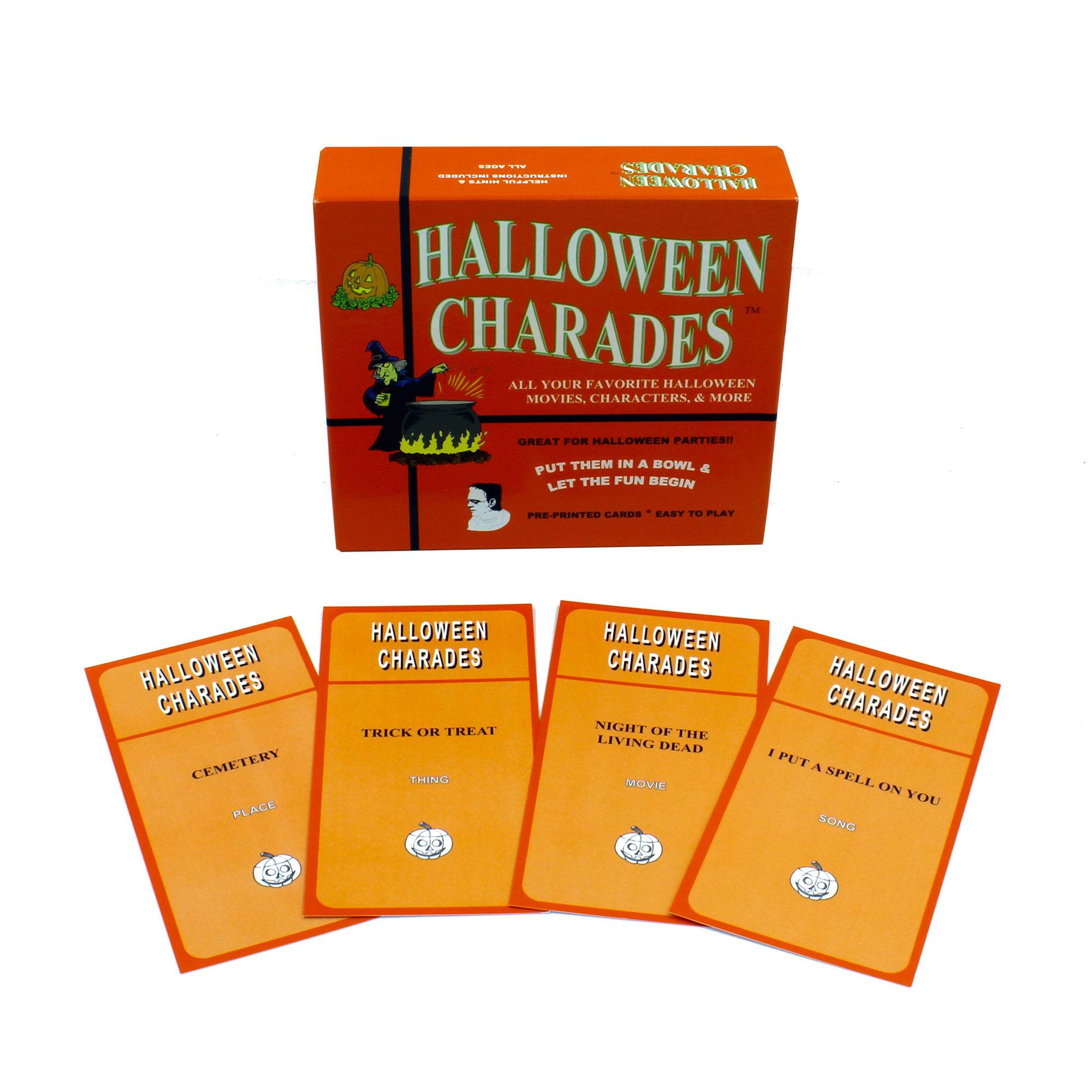 Halloween Charades, Halloween Bingo, and Halloween Dominoes Bundle ...