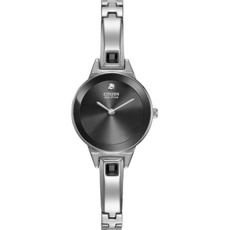 Citizen Silhouette Black Dial Stainless Steel Ladies Watch EX132054E