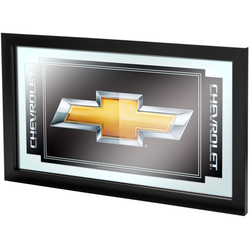 Chevy Chevrolet Bow Tie Framed Mirror