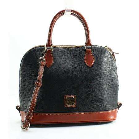 dooney & bourke pebble zip zip satchel black