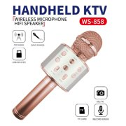 Party Gifts for Girls Kids, Wireless Karaoke Microphone Toys for 6-12 Year Old Girls Kids Karaoke Micrphone Machine for Kids Birthday Party Gift for Girls Age 4-12 Rose Gold MIC Rosegold