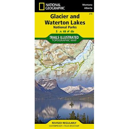 National geographic maps: trails illustrated: glacier and waterton lakes national parks - folded map: