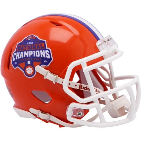 Riddell Clemson Tigers College Football Playoff 2018 National Champions Logo Speed Mini Helmet Logo Authentic Riddell Mini Helmet