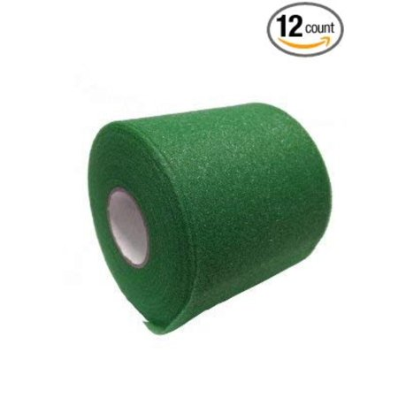 Mixed Colors Bulk Prewrap for Athletic Tape - 12 Rolls, Green, Pre-taping foam underwrap helps protect skin from tape chafing By Mueller (Chafe Tape)