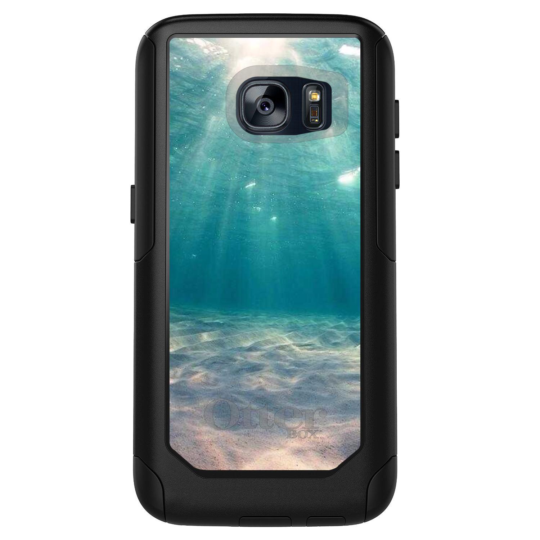 DistinctInk™ Custom Black OtterBox Commuter Series Case for Samsung Galaxy S7 - Underwater Sun Sand