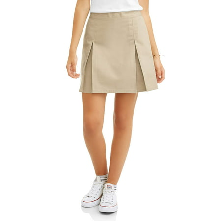 Real School Juniors' Pleat Front Scooter School Uniform Skirt (Junior Uniform Dress)