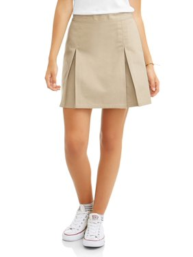Real School Juniors' Pleat Front Scooter School Uniform Skirt