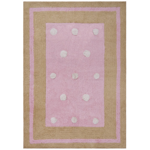 St. Croix Carousel Pink Border Dots Area Rug