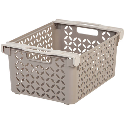 Iris Large Decorative Basket, Pack of 2, Tan