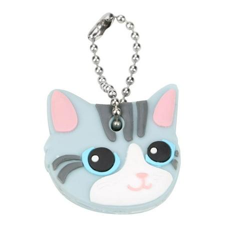 WALFRONT Creative 1Pcs Cute Puppy Pug Cat Key Cover Cap Keychain Key Ring PVC Unisex Gift, Cute Puppy Purse Keychain, Bag Key Chain ()