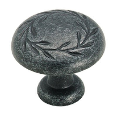 Nature's Splendor 1-5/16 in (33 mm) Diameter Wrought Iron Dark Cabinet Knob