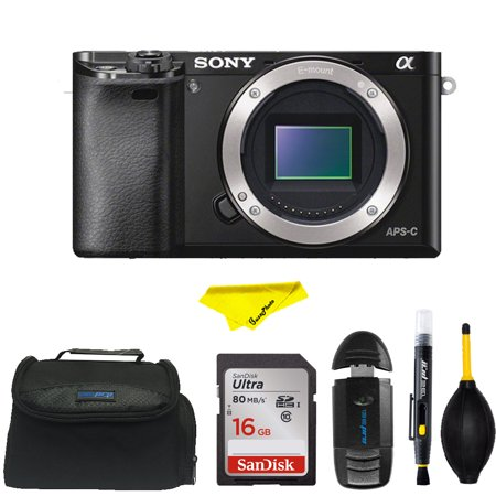 Sony Alpha a6000 Mirrorless Digital Camera Body with Accessory Kit (Black)