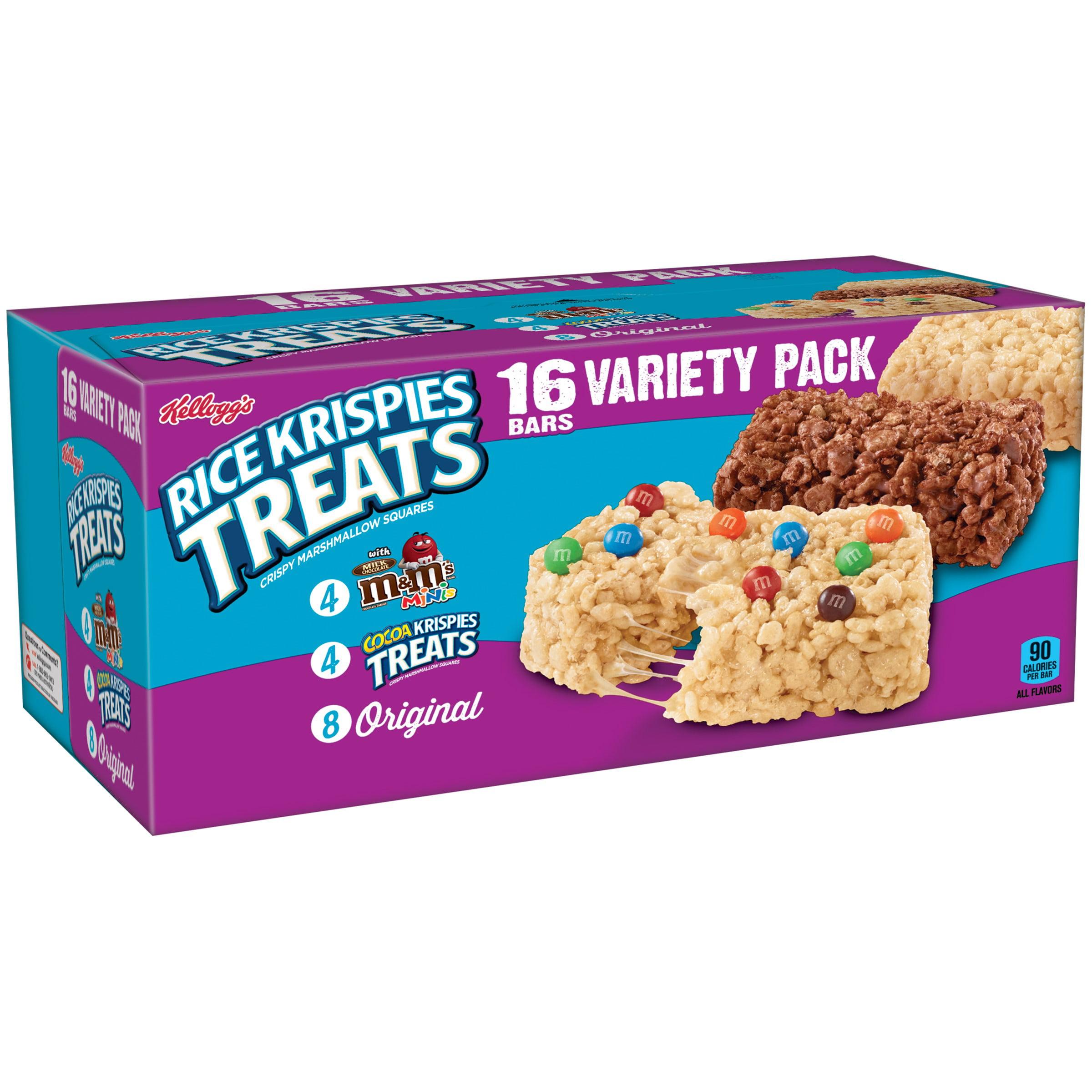 Kellogg's Rice Krispies Treats Variety Pack, 0.78 oz, 16 count