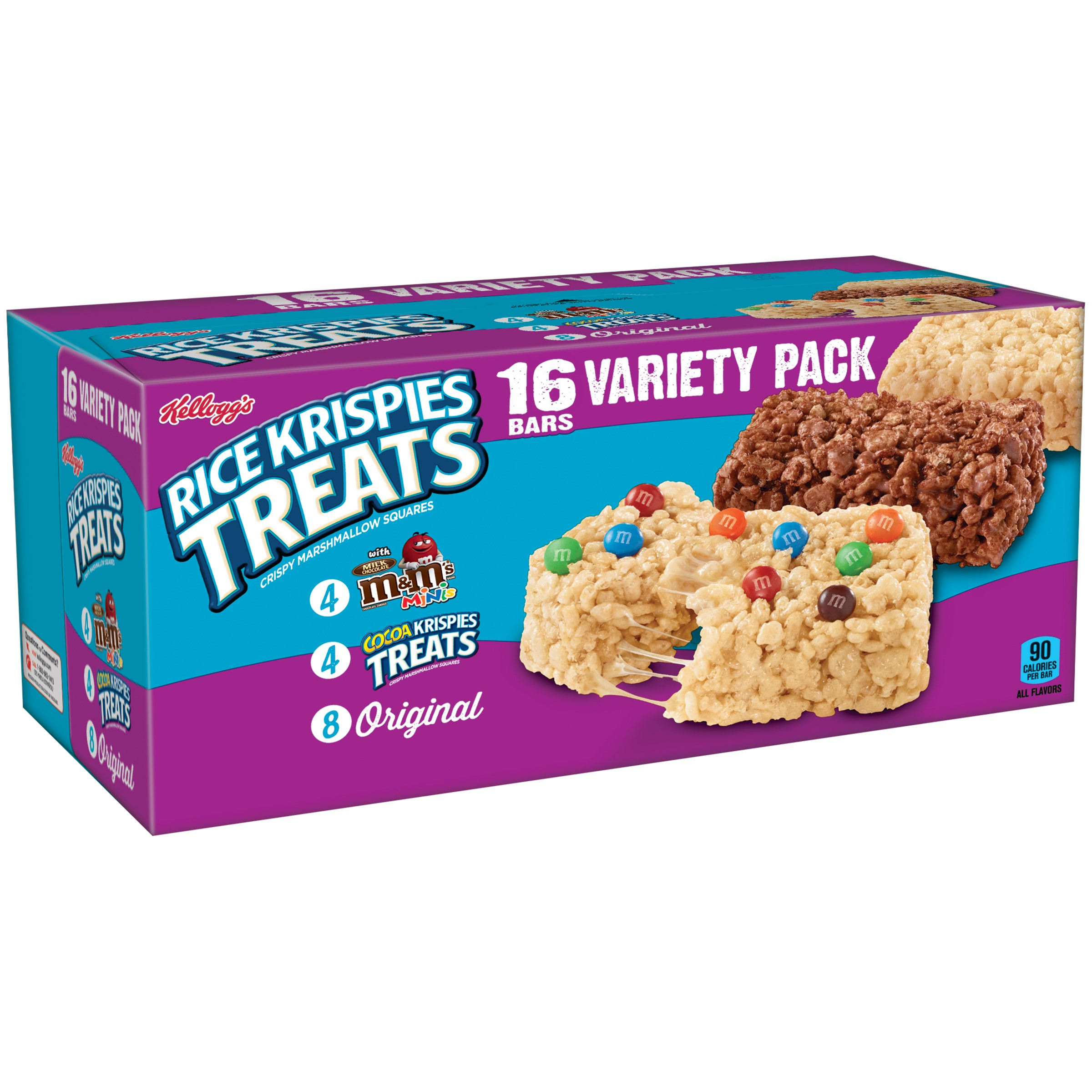 (6 Boxes) Kellogg's Rice Krispies Treats Variety Pack, 16 Ct-$0.20/Ct