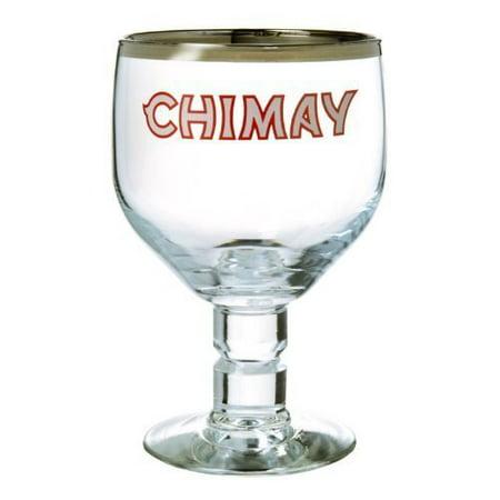 Chimay Belgian Beer (Belgian Ale Goblet/Chalice Beer Glasses 0.33L - Set of 4 by, Height: 5 7/8