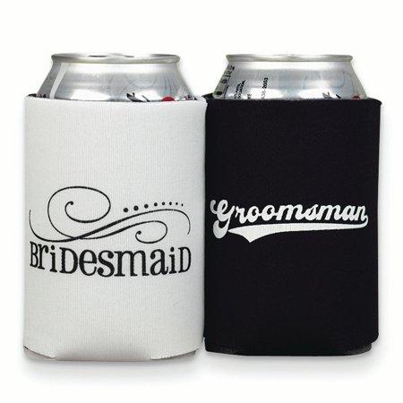 Bridesmaid Groomsmen Can Coolers Beverage Glassware