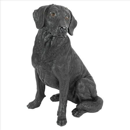 Black Labrador Retriever Dog Statue