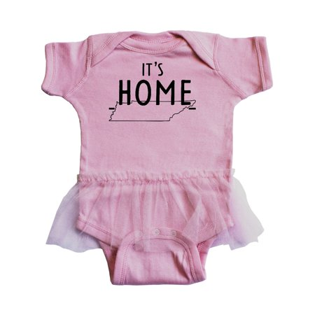 It's Home- State of Tennessee Outline Infant Tutu Bodysuit