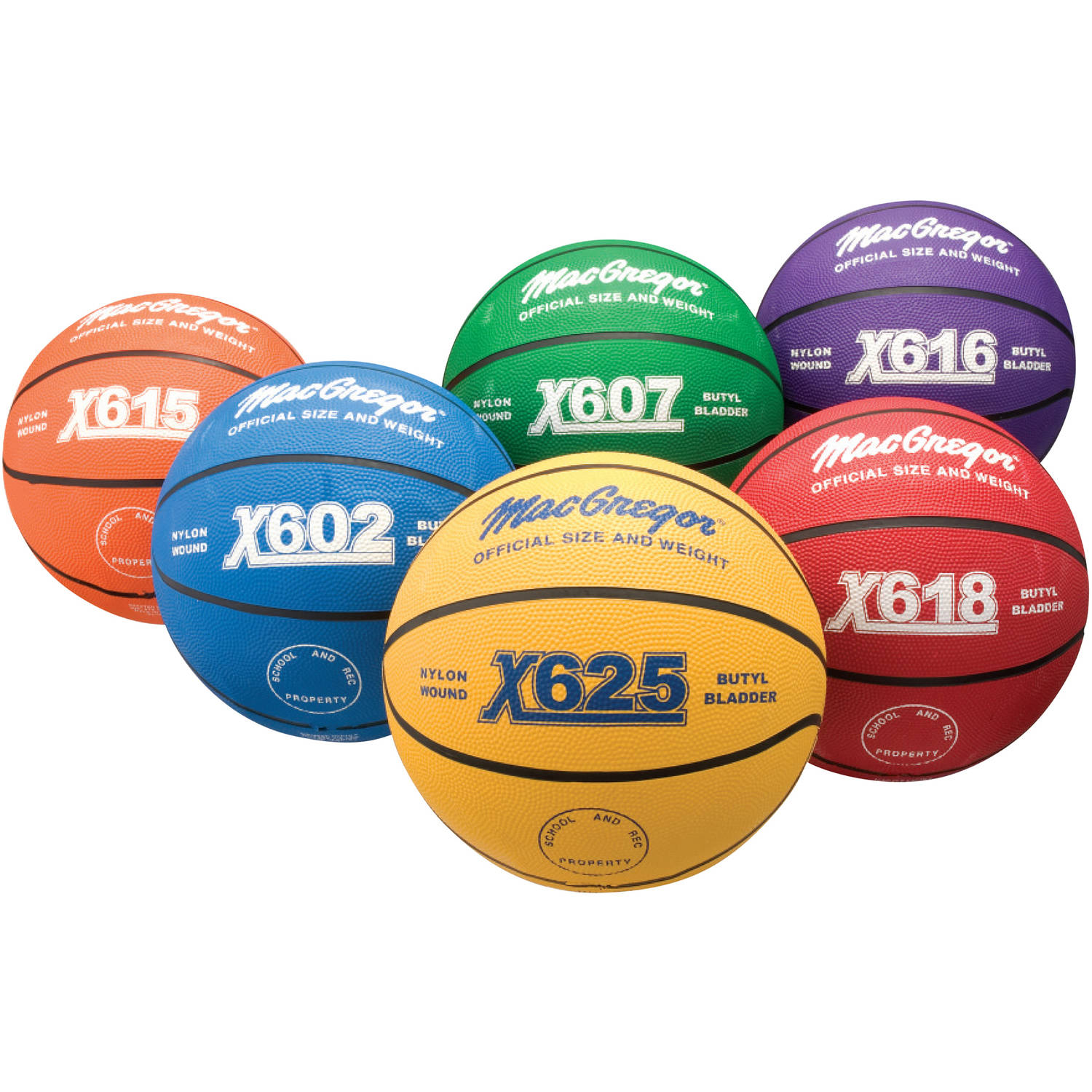 Multicolor Basketballs - Intermediate Size (EA)