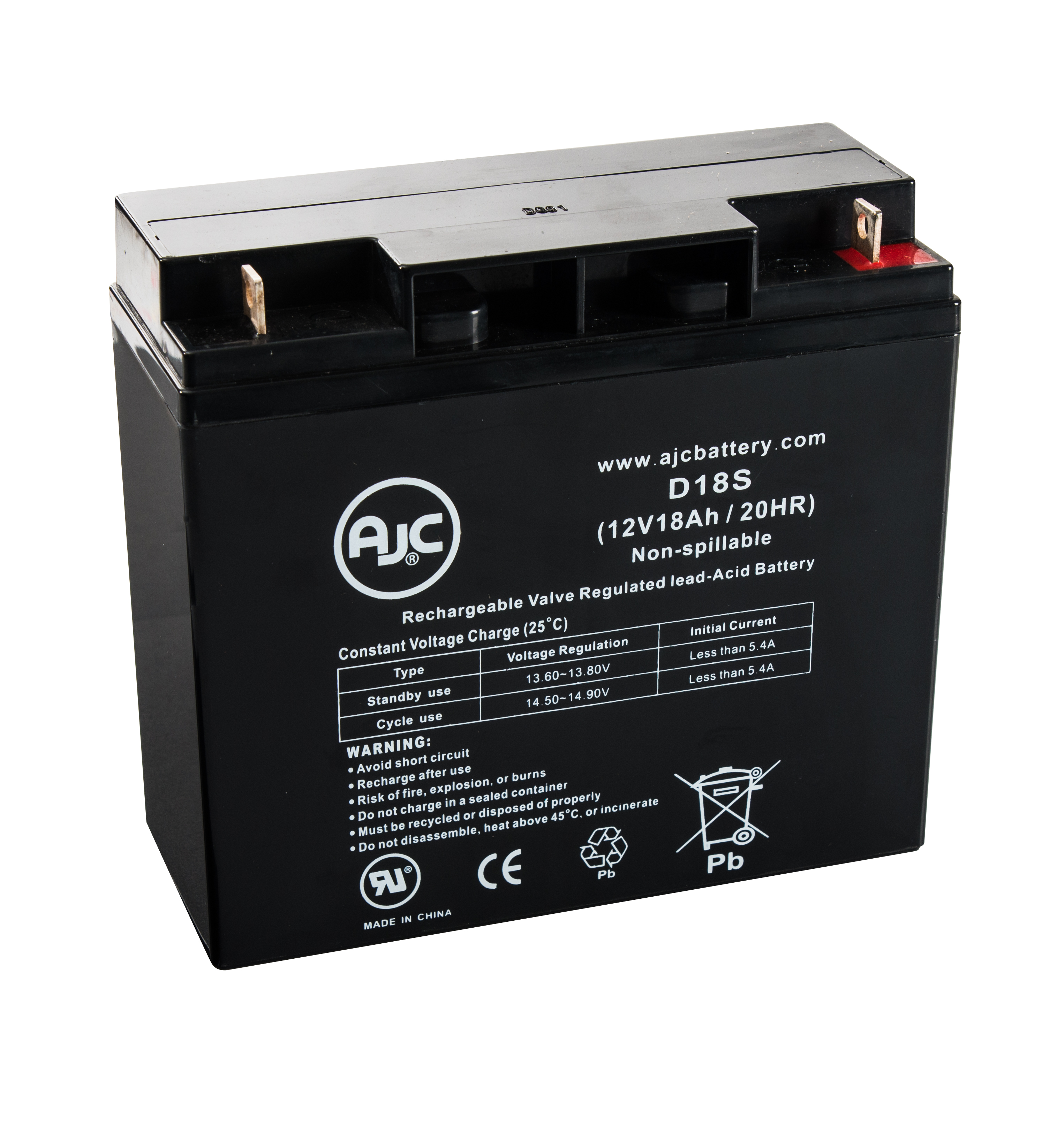 AJC JC12170 12V 18Ah Wheelchair Battery - This is an AJC Brand® Replacement