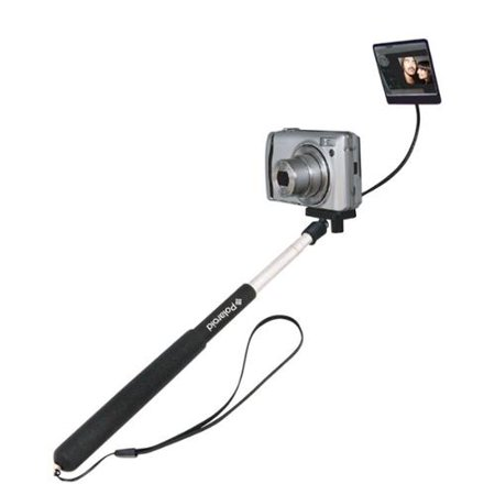 Polaroid Camera Extender Self Portrait Handheld Monopod w Mirror Extends to 37