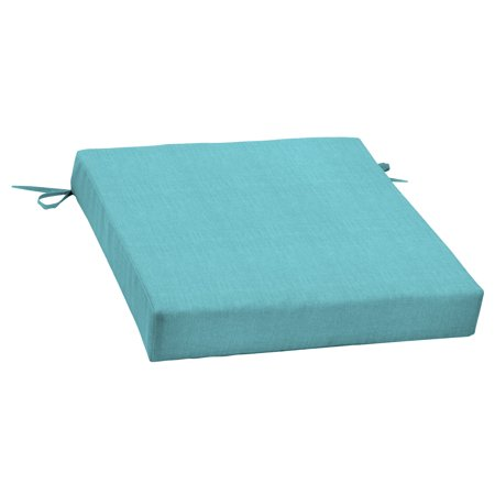 Mainstays Solid Turquoise 21 x 21 in. Outdoor Dining Seat Cushion ()
