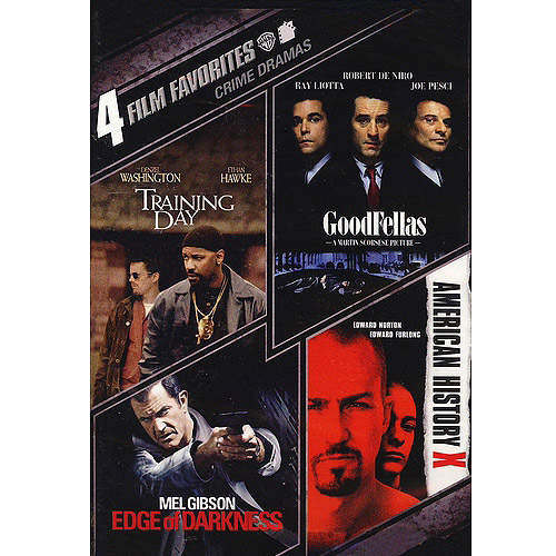 4 Film Favorites: Crime Drama - Training Day / Goodfellas / American History X / Edge Of Darkness (Widescreen)