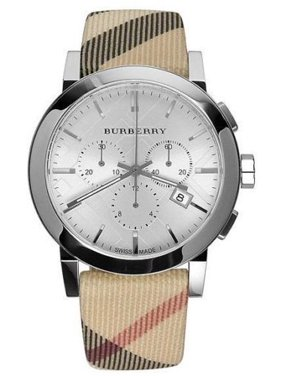 Burberry Mens Haymarket Check Strap Chronograph Watch BU9357