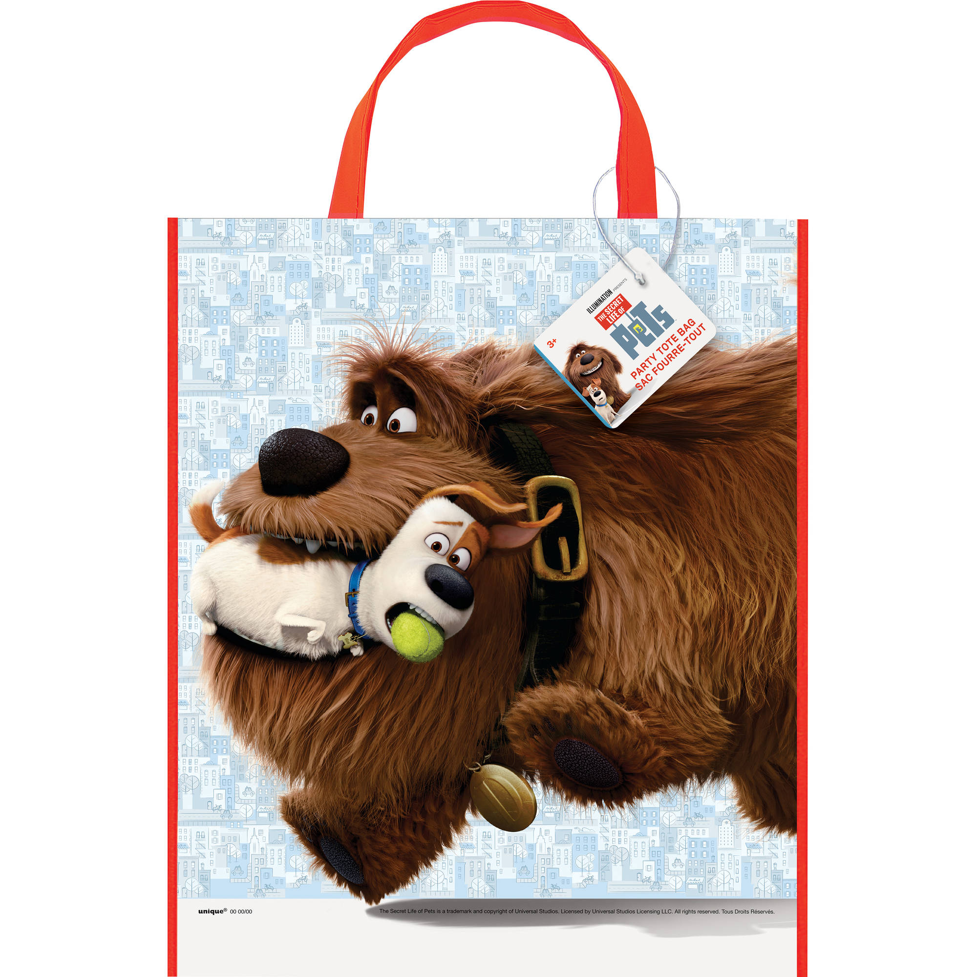 "Large Plastic The Secret Life of Pets Favor Bag, 13"" x 11"""