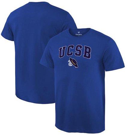 W Republic Apparel 504-112-NVY-03 University of California Santa Barbara Football Tee for Men, Navy - Large (Large Santas For Sale)