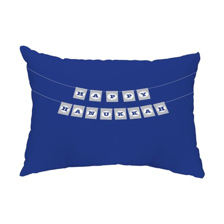 Banner Day 14x20 Inch Royal Blue Decorative Word Outdoor Pillow