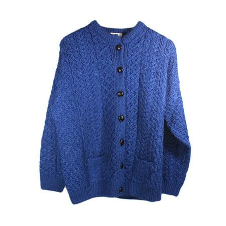7254d149e Aran Woollen Mills - Irish Aran Wool Lumber Jacket Cardigan Sweater ...