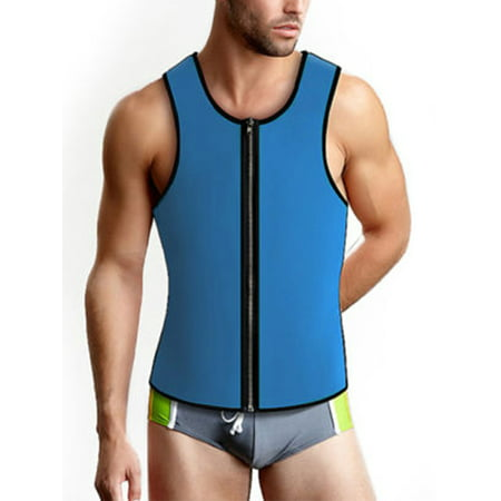 bfba3717769 LELINTA Men Hot Sweat Neoprene Body Shaper Slimming Belt Waist Trainer  Cincher Girdle Tummy Contro Vest Slim - Walmart.com